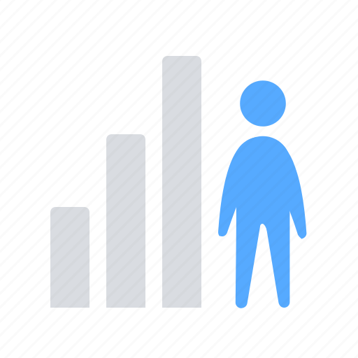 career, employee, growth, ladder icon