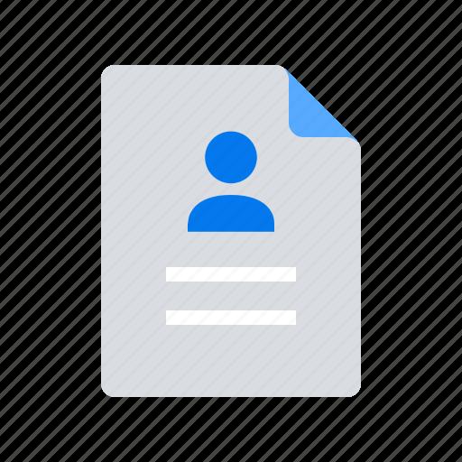 cv, job, portfolio, resume icon