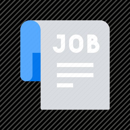 employment, job, news, paper icon