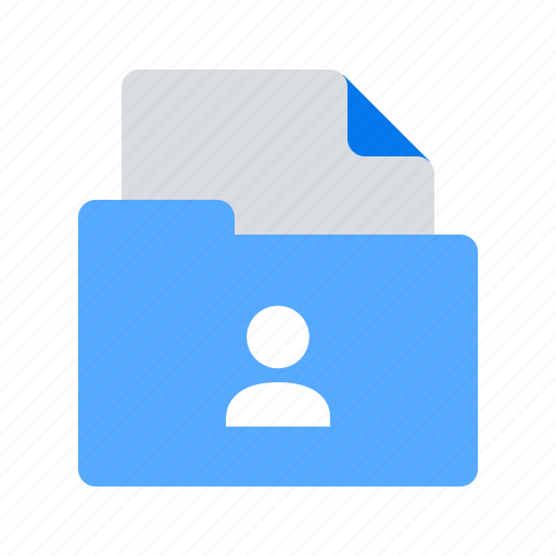Profile, folder, cv icon