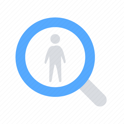 headhunting, human, resources, search icon