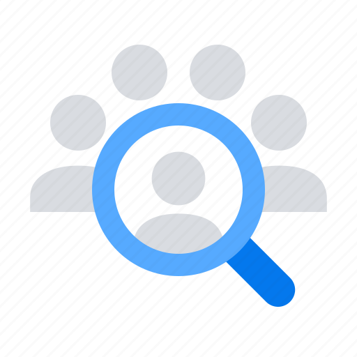 human, people, resources, search icon