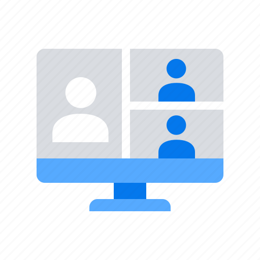 call, conference, interview, video icon