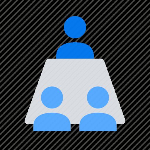 interview, meeting, teamwork icon