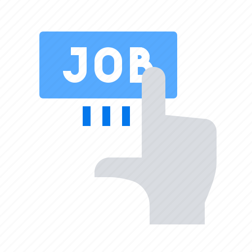 click, hand, job icon