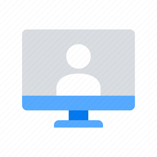 call, interview, online, video icon