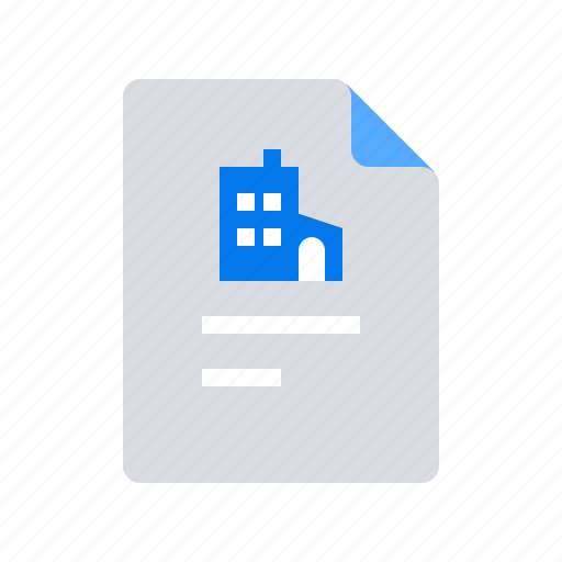 document, office, profile icon