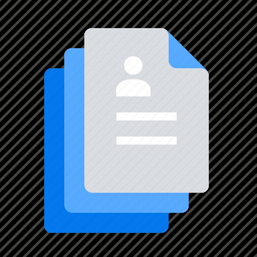 candidates, choice, job application, resume icon