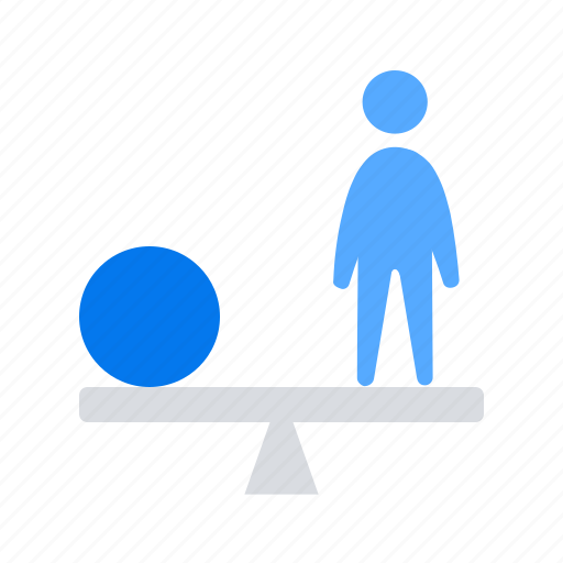 balance, employee, salary, worker icon