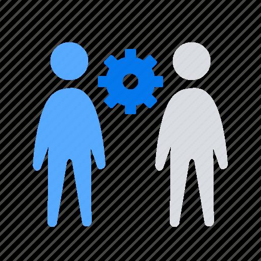 management, solution, teamwork icon