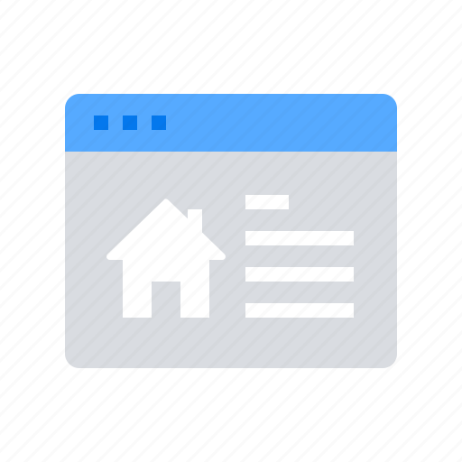 browser, house, search icon