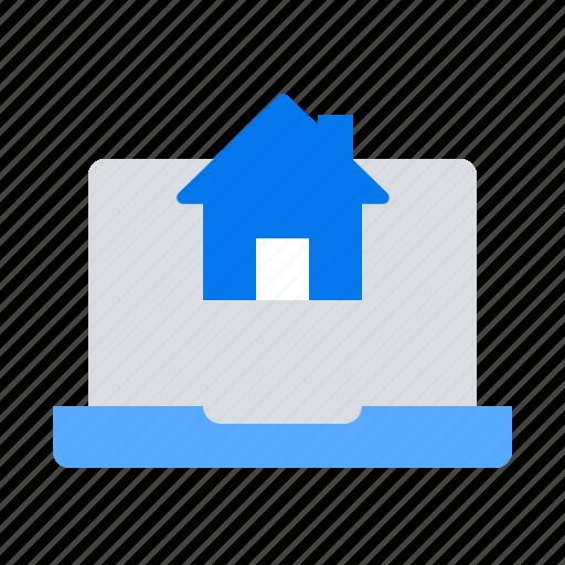 laptop, real estate, webpage icon