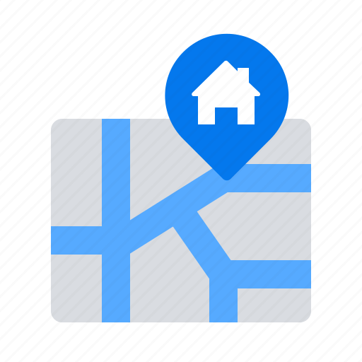 house, location, map icon