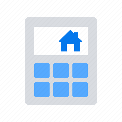 Calculate, House, Price Icon