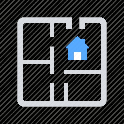 apartment, house plan, scheme icon