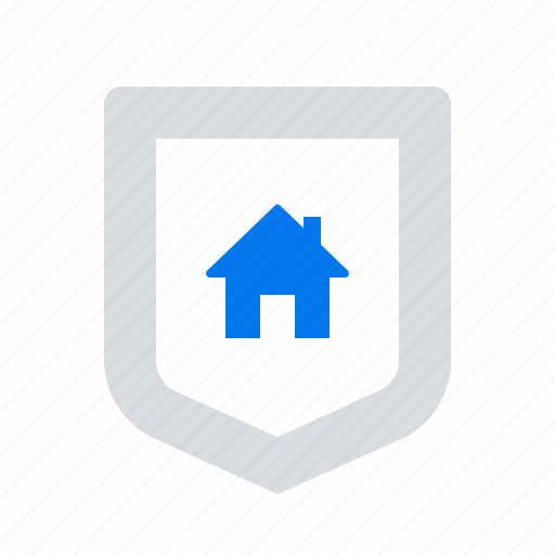 house, security, shield icon