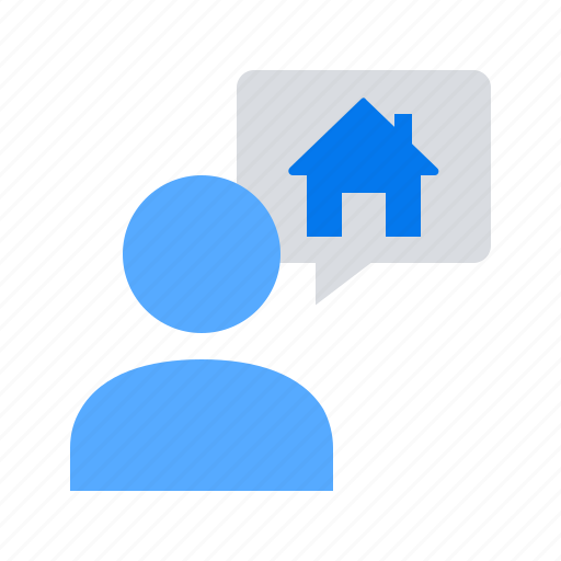 chat, house, talk icon