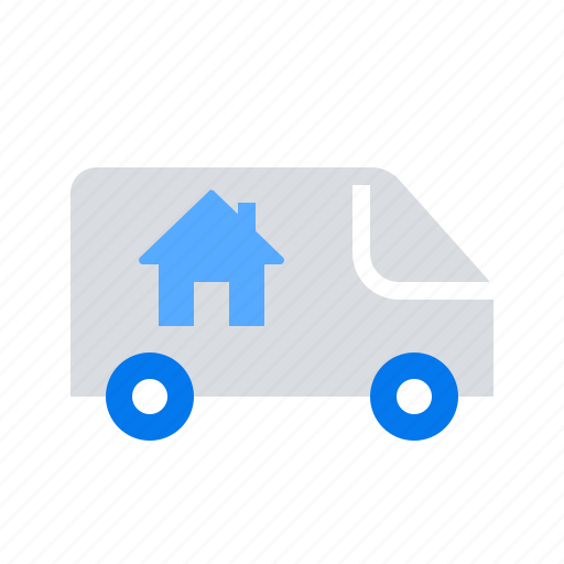 Mooving, relocation, van icon - Download on Iconfinder