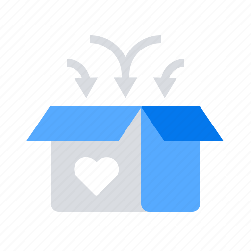 box, care, charity, donation icon