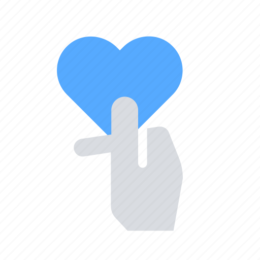 charity, giving, hand, heart, love icon
