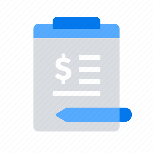 budget, clipboard, crowdfunding, report icon