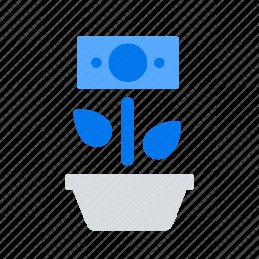 crowdfunding, fundraising, growth, money icon