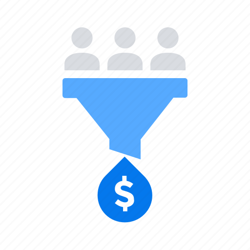 donation, filter, funnel, money icon