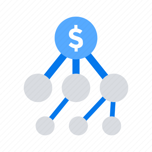 affiliate, funds, money, network icon