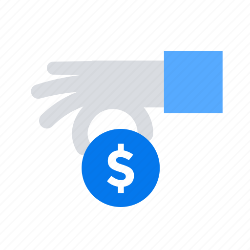 coin, give, hand, money icon