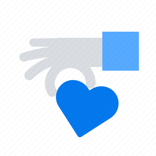 charity, donation, give, hand, heart icon