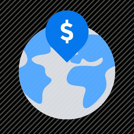 crowdfunding, fundraising, global, world icon