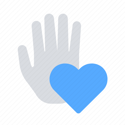 charity, donate, hand, heart icon