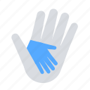 care, charity, hand, holding, in hand icon