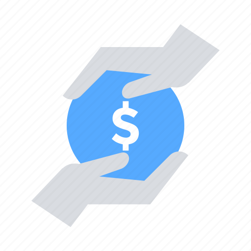 donation, give, hands, investors, money icon