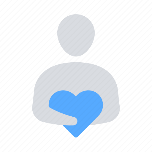 donation, giver, heart, investor icon