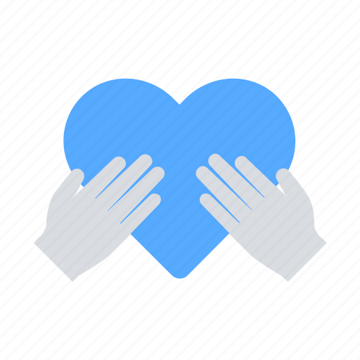care, charity, hands, heart icon