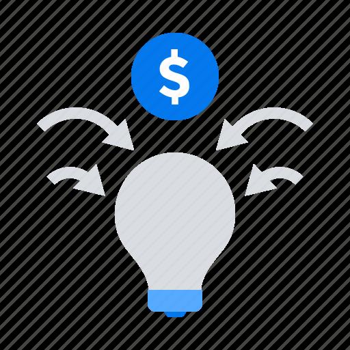 budget, crowdfunding, fundraising, idea icon