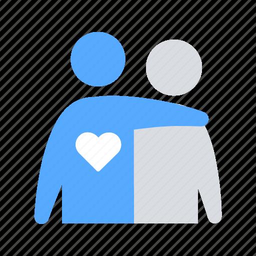 heart, hug, love, support icon