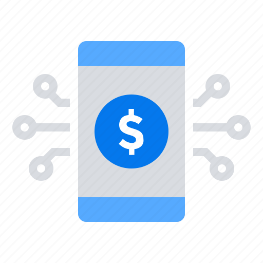 application, fundraising, mobile, money icon