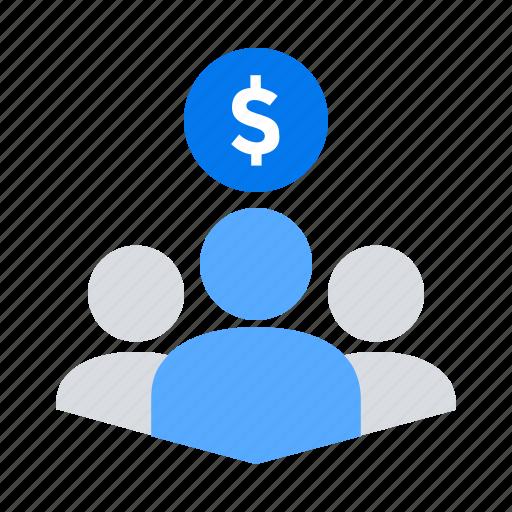 backers, crowdfunding, investors, team icon