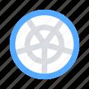 grid, polar, tool icon