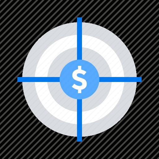 budget, profit, target icon
