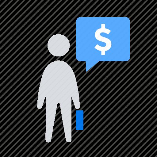 budget, businessman, finance icon