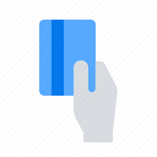 credit card, hand, payment method icon