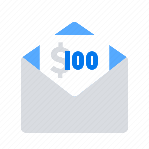 email, funds, money icon