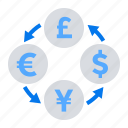 flow, money, currency exchange icon