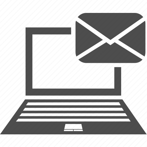 laptop, letter, message, writing icon