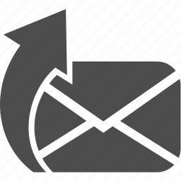 arrow, letter, message, writing icon
