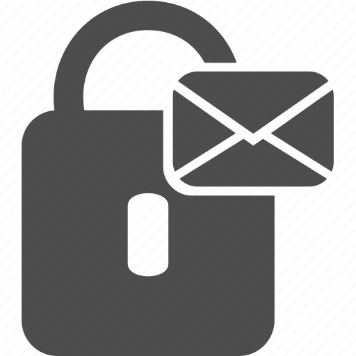 letter, lock, message, writing icon