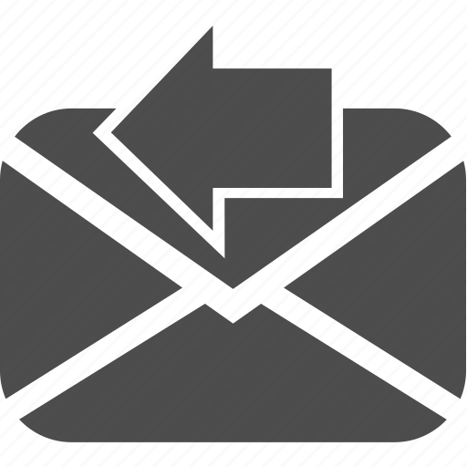 arrow, left, letter, mail, message, writing icon